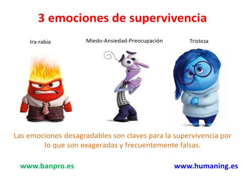 3 emociones